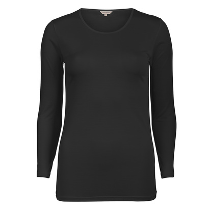 Lady Avenue Silk Jersey T-shirt Black