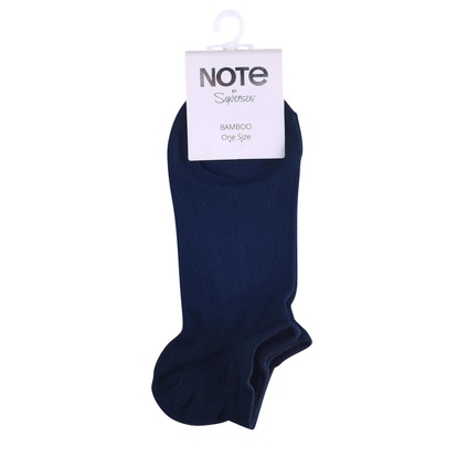 Note Strumpor Liner Bamboo Navy One size