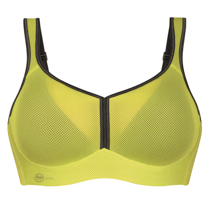 Anita Sport BH Med Mesh Air Control Delta Pad Yellow Anthracite