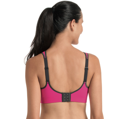 Anita Sport BH Med Mesh Air Control Delta Pad Pink Anthracite