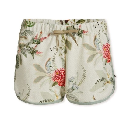 Pip Studio Bali Short Trousers Floris Off-White