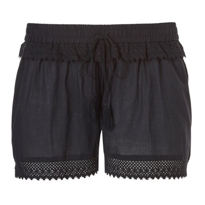 Pastunette Beach Shorts Crochet Black