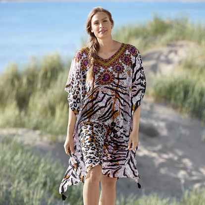 Damella Tunika Cover-up Leo One Size