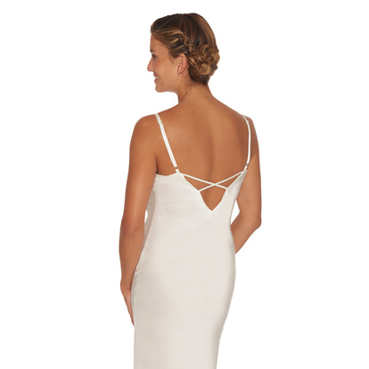 Lady Avenue Nattklänning Pure Silk Off-white