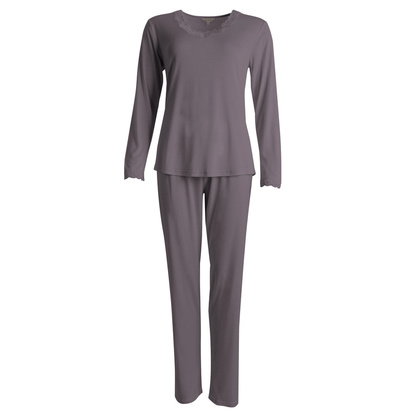 Lady Avenue Pyjamas-set Silk Jersey Coffee
