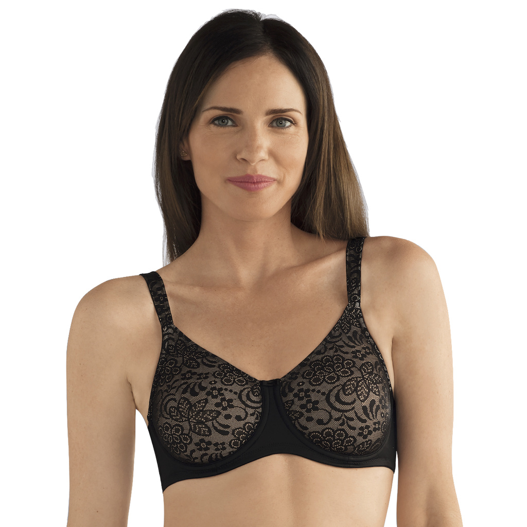 Amoena Protes BH Bygel Annette Black Nude 95 G